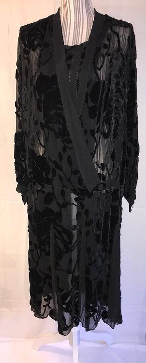 1920s Devoré dress