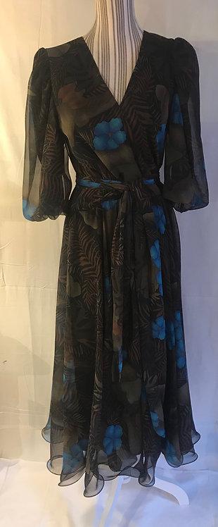 1970s chiffon dress