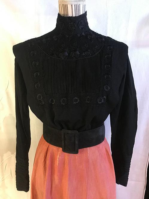 Edwardian cotton and lace blouse