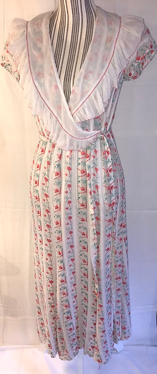 SOLD.1930s embroidered tea dress