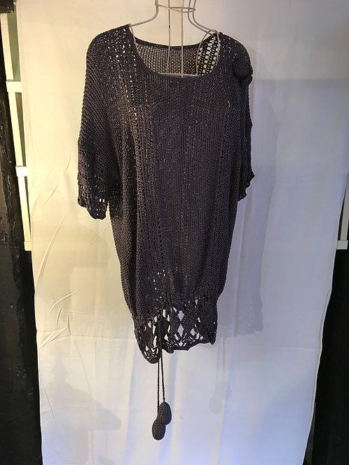 1920s silk crochet top