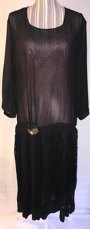 1920s cotton muslin dress