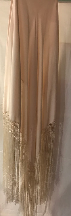 1920s cream silk piano shawl