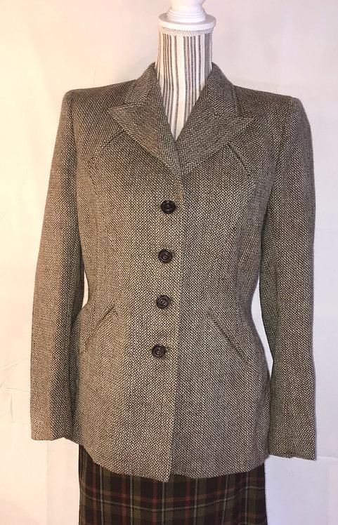 1940s Utility Harris tweed jacket