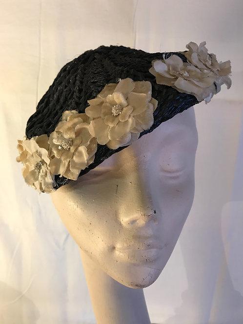 1950s raffia hat