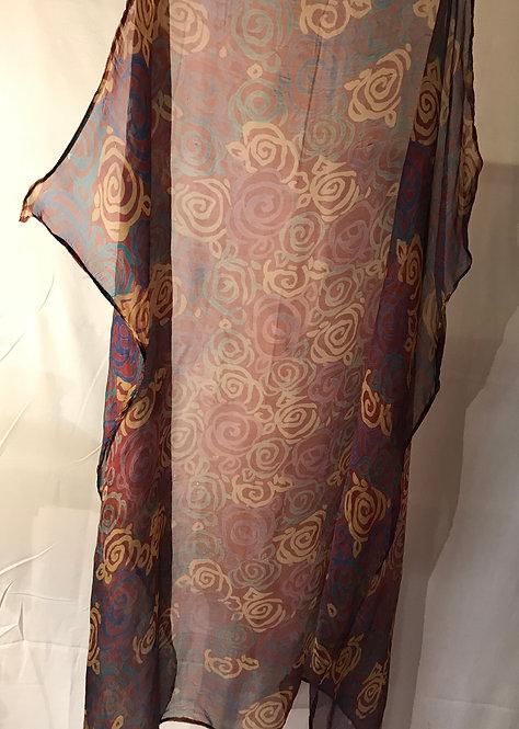 1930s silk chiffon scarf