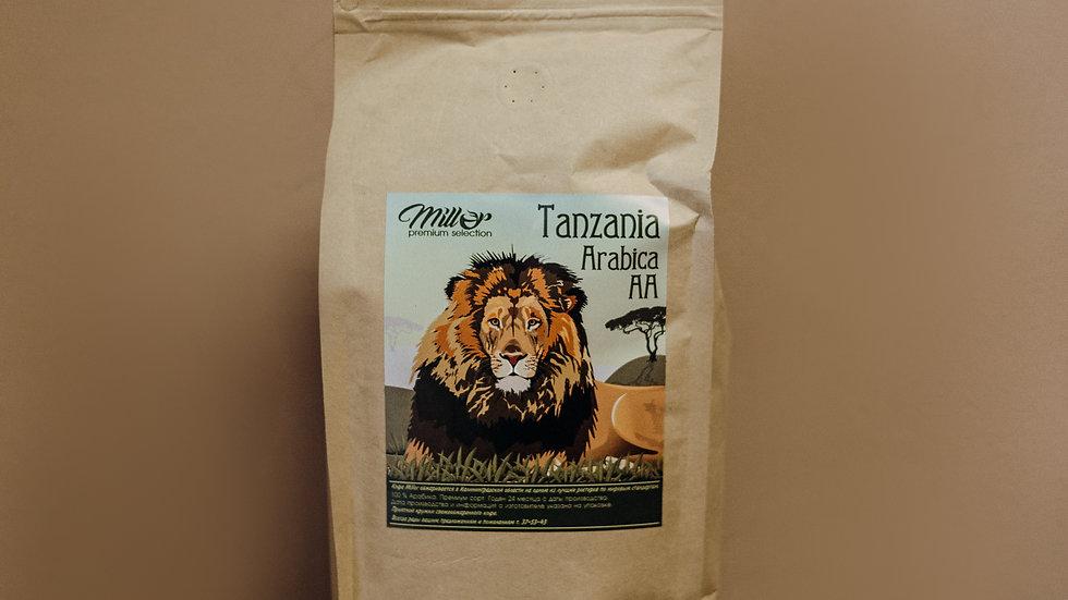 Кофе зерновой Tanzania Arabica AA 1 кг.