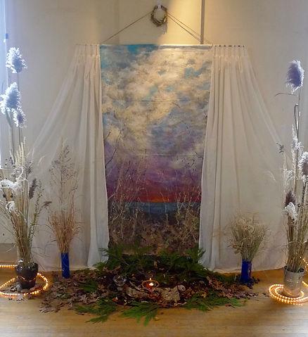 altar Sunday morning Nov 26 - Bettina's.