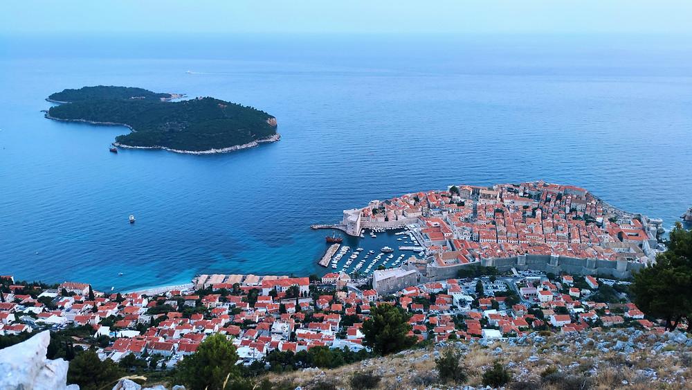 Dubrovnik visto desde el Monte Srd