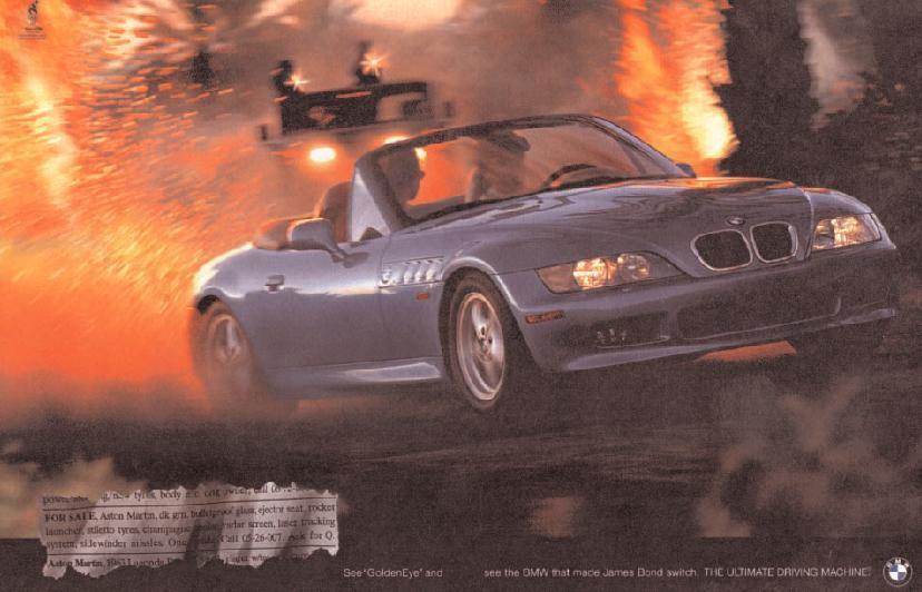 anuncio BMW Z3 James Bond con una explosión al fondo