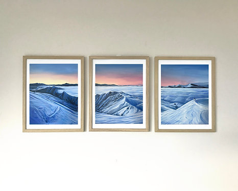 Coronet Peak Sunrise Triptych Print