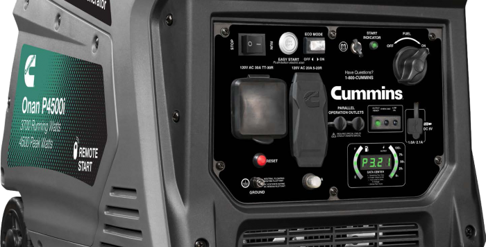 Cummins Onan P4500i Portable Generator 4500W Gasoline fuel