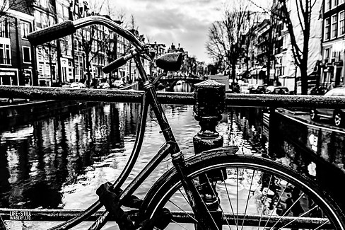 """""""Bike on the Canal"""" Amsterdam, Holland (2014)"""