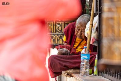 """The Blind Monk"" Boudhanath, Kathmandu, Nepal (2019)"