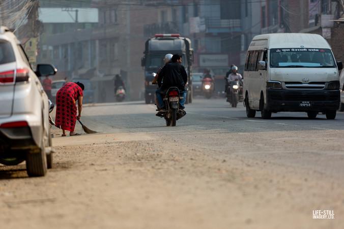 """Battling the Dust"" Kathmandu, Nepal (2019)"
