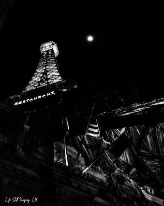 """Moon over 'The Paris,'"" Las Vegas, Nevada (2020)"