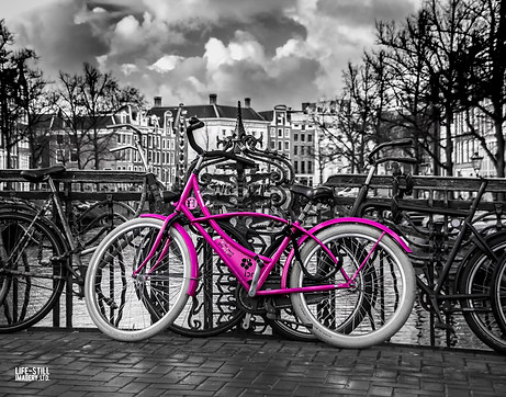 """The Pink Bike"" Amsterdam, Holland (2014)"