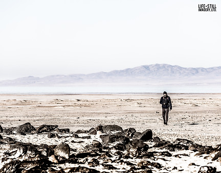 """""""Metaphotography of the Lost Key"""" Spiral Jetty, Utah, U.S.A. (2017)"""