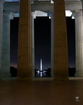 Lincoln watching Washington