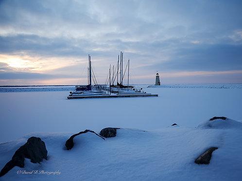 Frozen Lake Hefner
