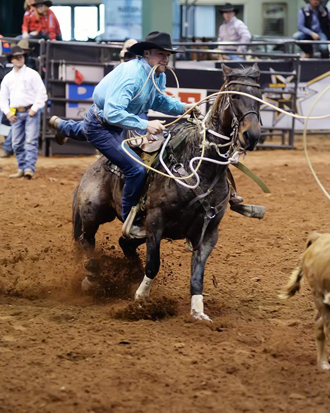calf roping WCRA rodeo stop in Oklahoma