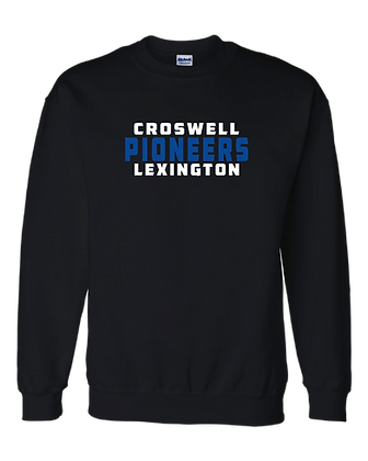 CL- Stacked-Youth Crewneck-Black