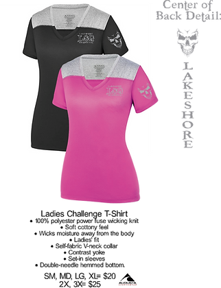 LSG- Ladies Challenge Poly Tee- 2X-3X