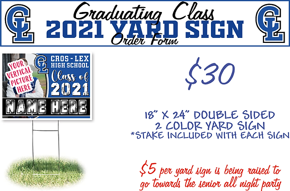 CL21 - Class of 2021 Picture Yard Sign