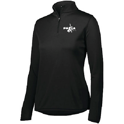 PHEA- Ladies 1/4 Zip- Black/White