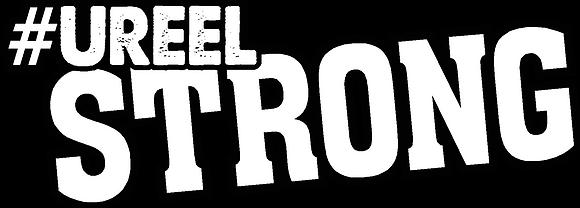 "#UreelStrong- 6"" White Decal"