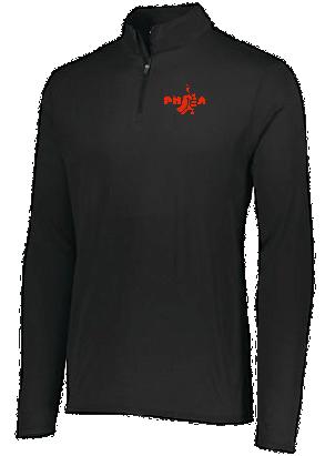 PHEA- 1/4 Zip- Black/Red