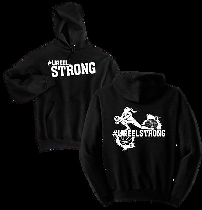 #UreelStrong- Youth Hoodie (BW)