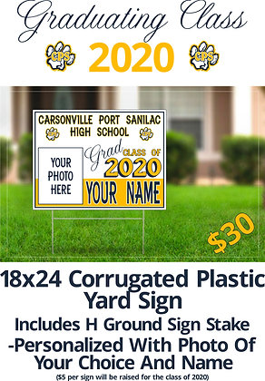 CPS- Yard Sign- Photo/Name