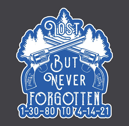 """DV - Lost But Never Forgotten - 5"""" Decal"""