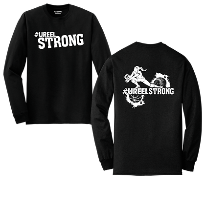 US- #UreelStrong- Youth Long Sleeve (BW)