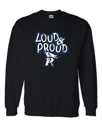 CL- Loud&Proud-Adult Crewneck-Black