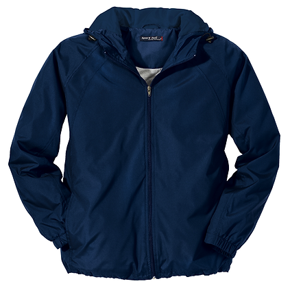 YE - Navy Water-Repellent Jacket Embroidered