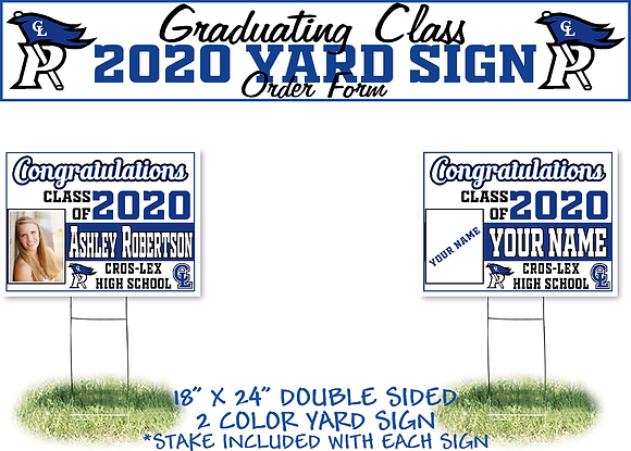 CL Senior- Photo Yard Sign