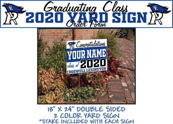 CL Senior- Name Yard Sign
