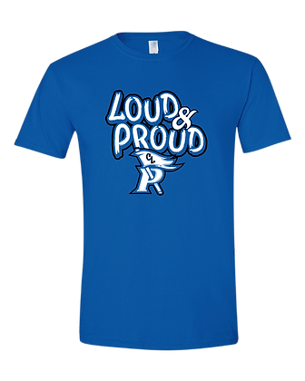 CL- Loud & Proud-Adult T- Royal