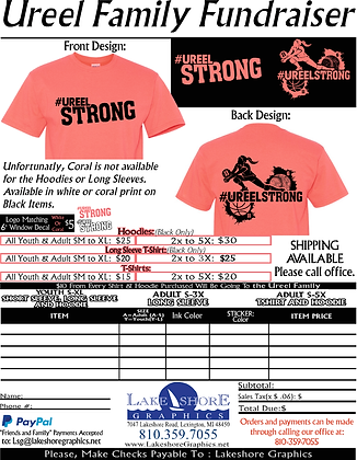 #UreelStrong- Youth T-Shirt, Coral