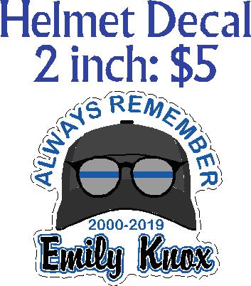 EK- Helmet Decal
