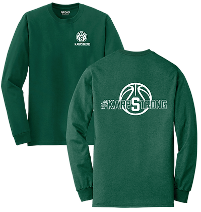 #KarpStrong- Forest Green- YOUTH LS T-Shirt, Sm-XL