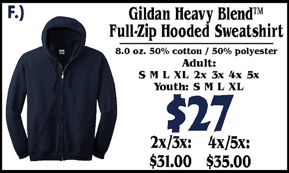 JM- Adult Full Zip Hoodie (F)