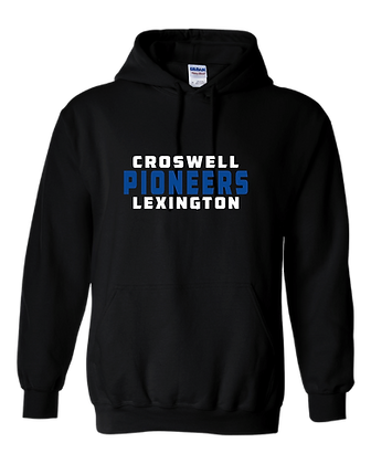 CL- Stacked-Youth Hoodie-Black