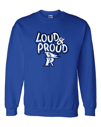CL- Loud&Proud-Youth Crewneck-Royal