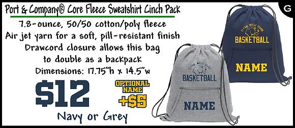 CMS- Core Fleece Cinch Pack