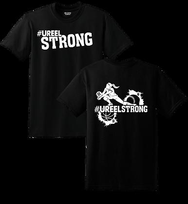 #UreelStrong- Adult T-Shirt, Sm-XL (BW)