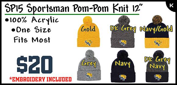 CMS- Pom Knit Beanie