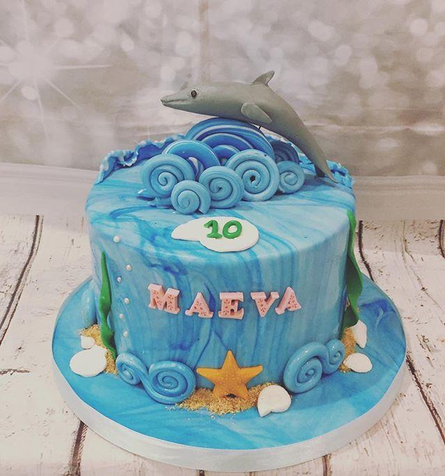 Pour la jolie Maeva, un gâteau thème mer
